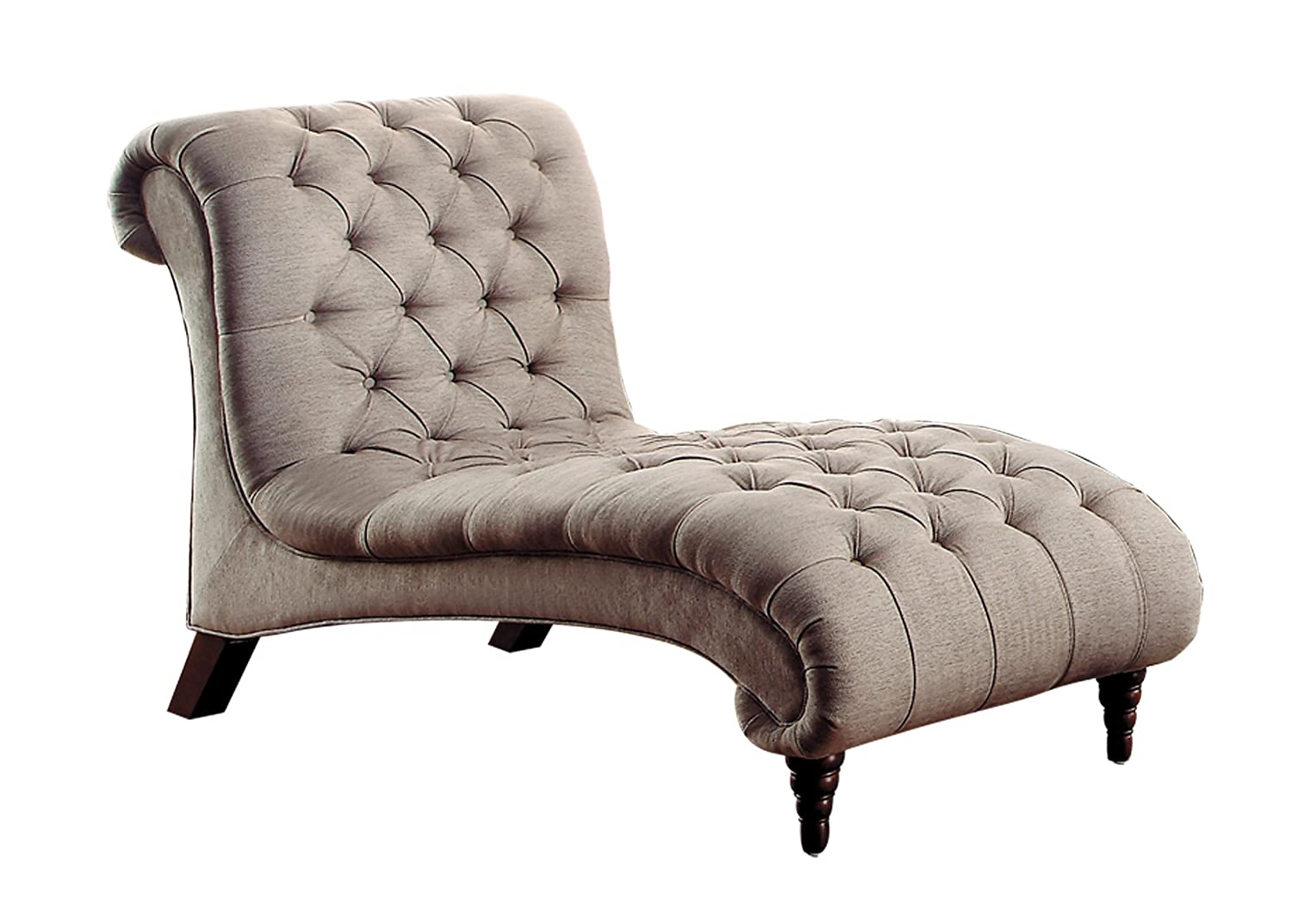 Homelegance Chesterfield Traditional Style Sofa with Tufted Design - Brown/Almond