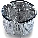 Hatrigo Instant Pot Accessories 8 qt Steamer Basket [3qt 6qt available], InstaPot Divided Steamer Basket Cooks 3 Items at Once, Insta Pot Ultra Accessory for Vegetables Eggs Meat (Instant Pot 8 Quart)