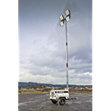 Terex AL4L Fuel Saving Portable LED Light Tower, 6kW Generator Powered, 1080 Watts of Light
