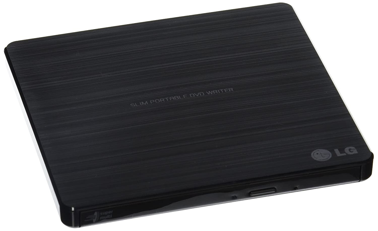 LG Electronics 8X USB 2.0 Ultra Slim Portable DVD Rewriter, External Drive with M-DISC Support, Retail (Black) GP60NB50