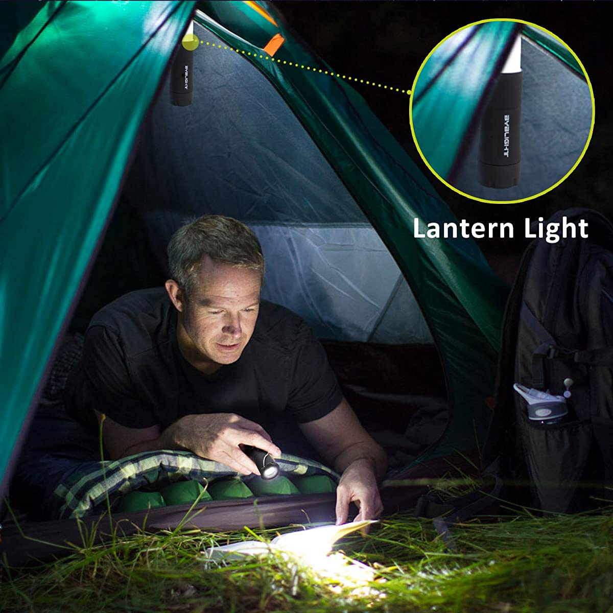 Lantern Flashlights, BYBLIGHT 2 in 1 Camping Lantern and Flashlight with 3 Modes, Zoomable & High Output Bright for Camping, Hiking, and Emergencies