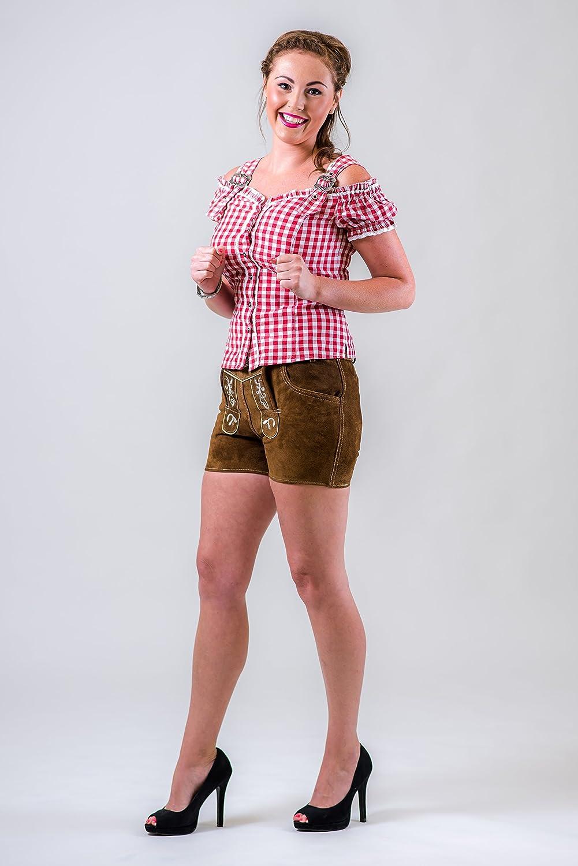 "Kurze Damen Trachten Lederhose ""hotpant"" Von Waller Trachtenmoden. Gr. 32-40 online bestellen"