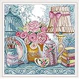 Joy Sunday Stamped Cross Stitch Kits, Wedding Supplies Cross-Stitch Sets 11CT Embroidery Kit Needlework (Color: 11CT Stamped kit,Wedding Supplies)