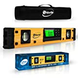 Digital Magnetic Level Tool - 18 Inch Torpedo Level and Protractor - Master Precision - IP54 Dustproof and Waterproof - Includes: 2 AAA Batteries and Carrying Case (Color: Yellow, Tamaño: 18 Inch)