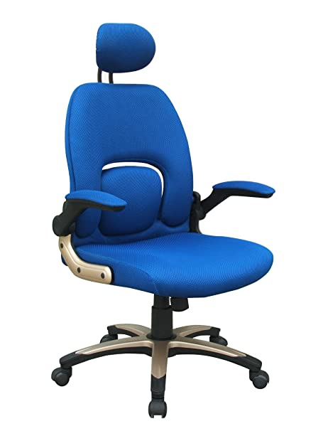 Eliza Tinsley BCF/W307/BL High Back Executive Armchair with Head-Rest - Blue