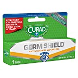 GermShield Antimicrobial Silver Wound Gel 0.5 ounces (1 tube), for topical cuts, wounds, diabetic sores, MRSA, bacteria, fungus, yeast