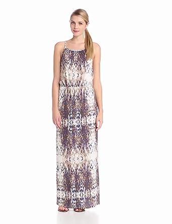 LAmade Women's Baroque Print Maxi Dress, Midnight Glow/Natural, Medium