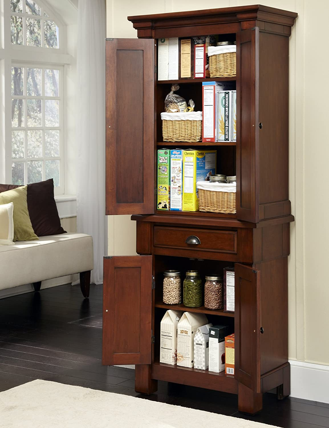 Pantry Cabinet Freestanding With Amazon.com: Home Styles The Aspen  Collection Pantry: Kitchen