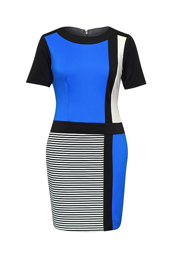 Sandra Darren Women Color- Block Stripe Dress