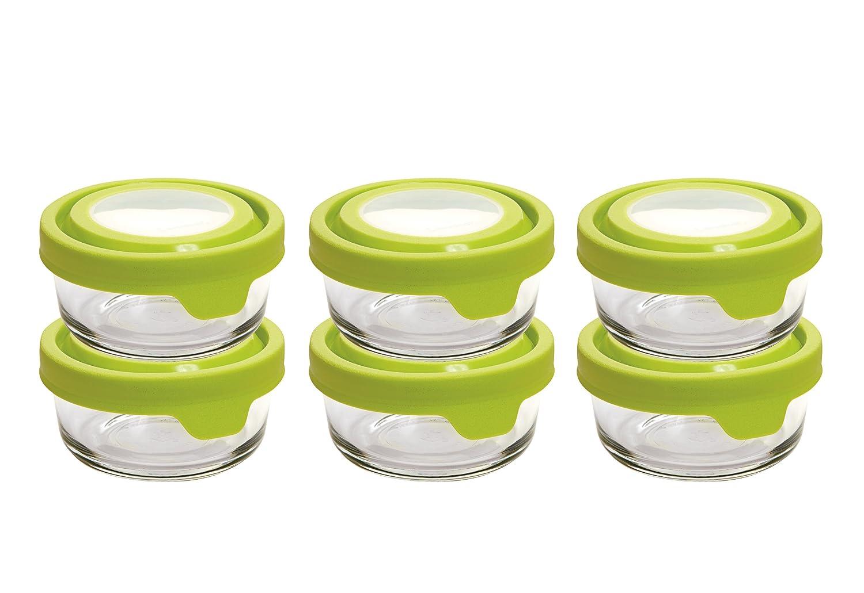anchor hocking trueseal glass round 1 cup food storage. Black Bedroom Furniture Sets. Home Design Ideas