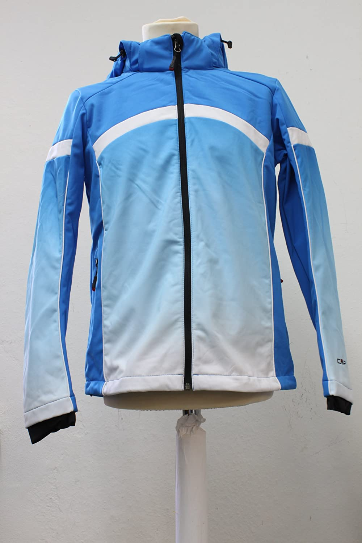 CMP Softshell Jacke mit Kaputze hellblau – blau 140 bestellen