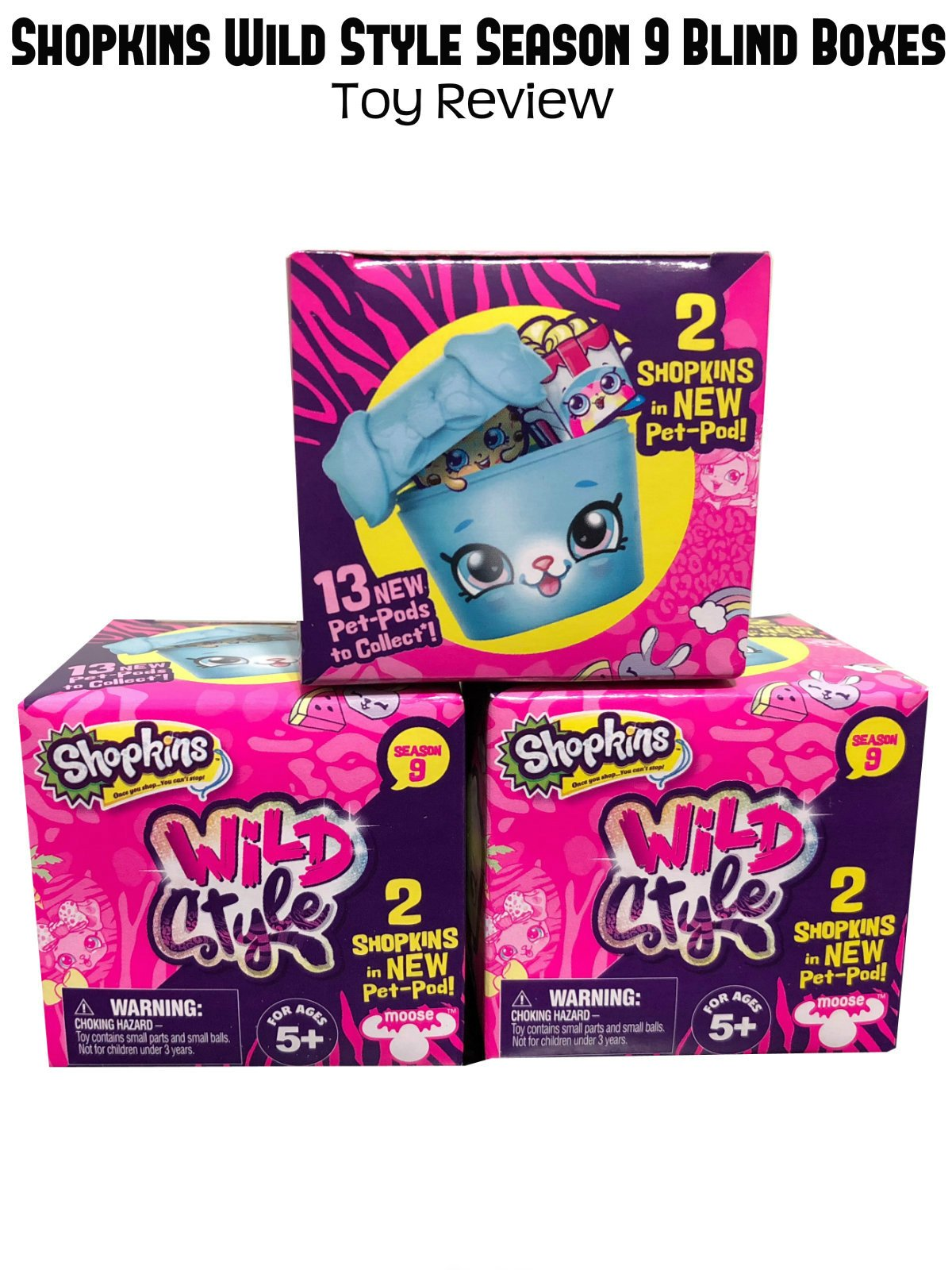 Review: Shopkins Wild Style Season 9 Blind Boxes Toy Review