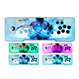 Happybuy Video Game Console, Arcade Machine 1500 Classic Games, 2 Players Pandora's box 5S multiplayer home Arcade Console 1500 Games All in 1 NON-JAMMA PCB Double Stick Newest Design Buttons Power HD (Color: 2p/Led Lights, Tamaño: 999in1/5s)