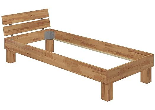 Moderno telaio letto/futon 90x200 in Faggio Eco laccato privo di doghe e materasso 60.80-09 oR