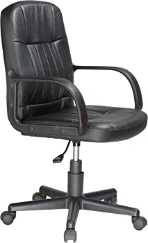 Comfort 60-5607M Leather Mid-Back Chair