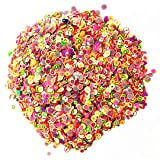 FantasyDay 10000Pcs Nail Sticker Mixed 3D Fruit Flower Candy Slices for Nail Art Tips Decoration Assorted Slices Clay Nails Stickers Rods Gel Tips Nailart Manicure #2 - Charms Slices for Wedding/Party (Color: #2)