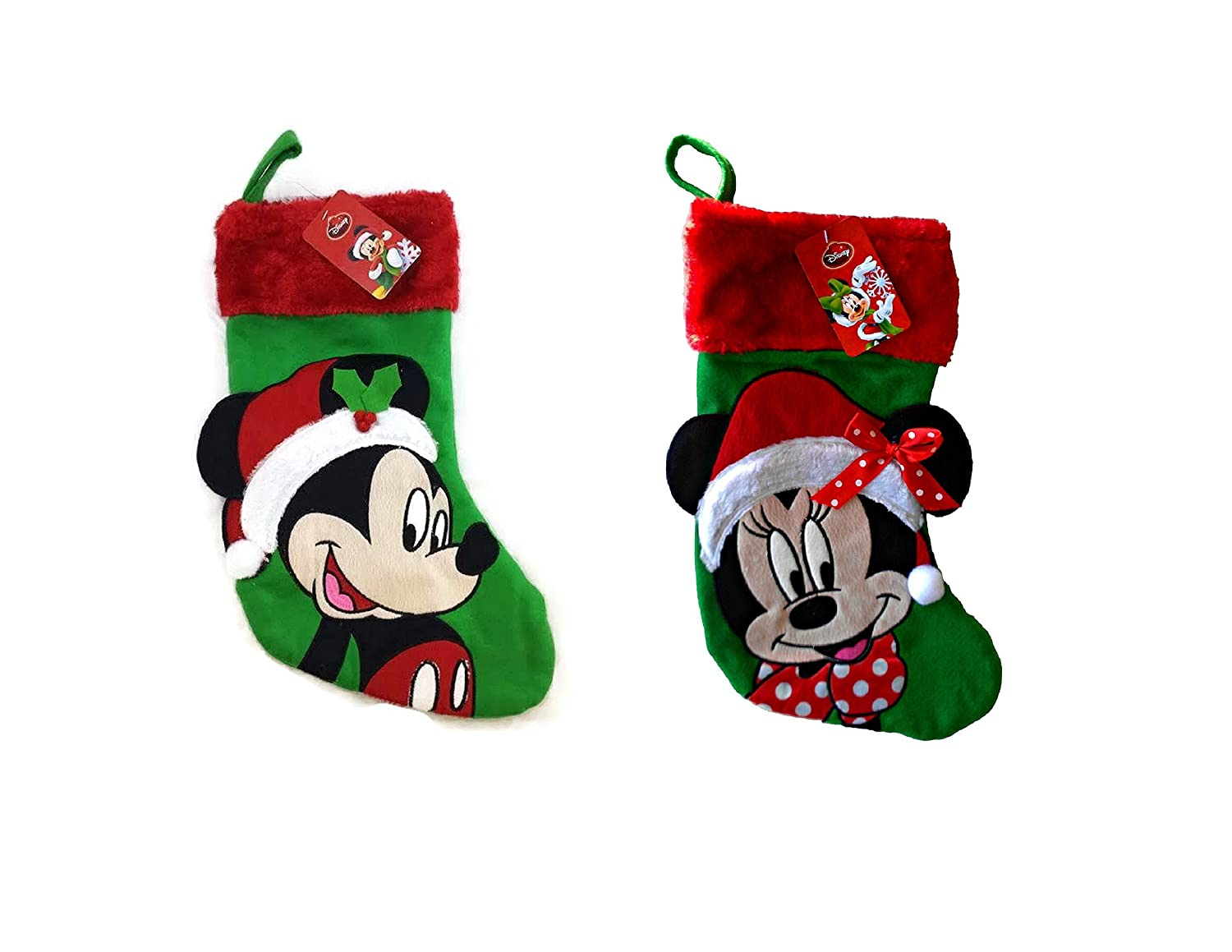 Mickey & Minnie Mouse Holiday 18 Stocking