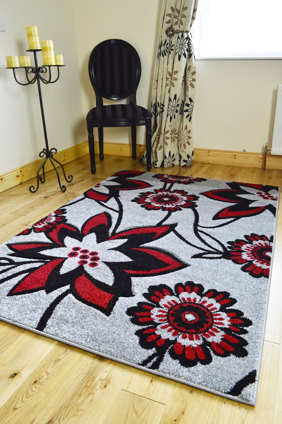*5 sizes*NEW SMALL MEDIUM XX LARGE MODERN RED BLACK SILVER CARVED QUALITY HALL RUNNER LIVING ROOM MAT CHEAP BEDROOM OFFICE SOFT RUG (200 X 290 CMS)       Customer reviews