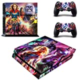 Decal Moments Regular PS4 Console Set Vinyl Skin Decal Stickers Protective for PS4 Playstaion 2 Controllers Avengers