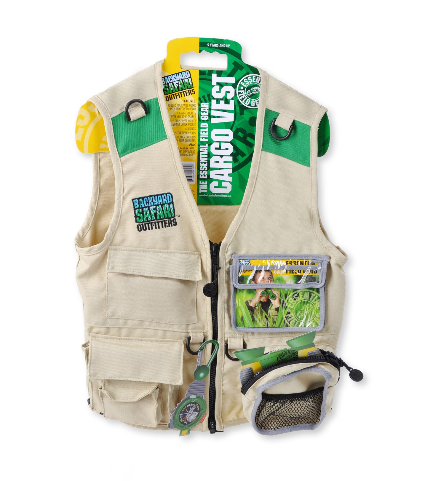 Backyard safari essential field gear cargo vest kids for Toddler fishing vest