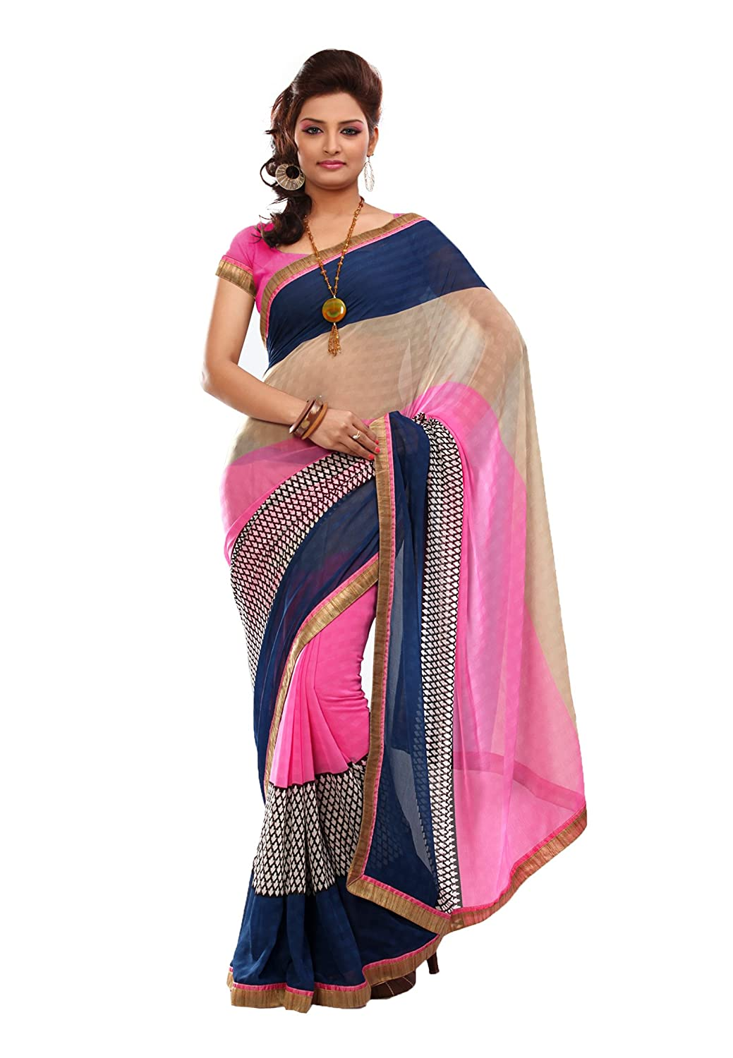 Fabdeal Women Indian Designer Printed Saree