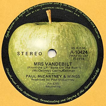 mrs.vandebilt / bluebird 45 rpm single
