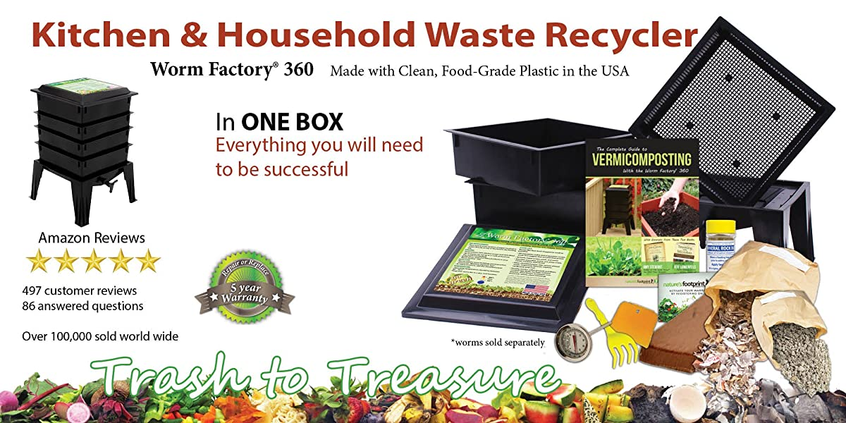 Worm Factory 360 WF360B Worm Composter, Black