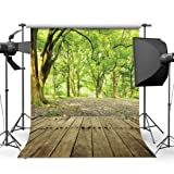 Dudaacvt Enchanted Forest Backdrop 8x8ft Trees Path Wood Floor Rain Photo Background Vinyl Shoot Studio Props for Party Pictures Q0070808 (Color: 1, Tamaño: 8x8ft)