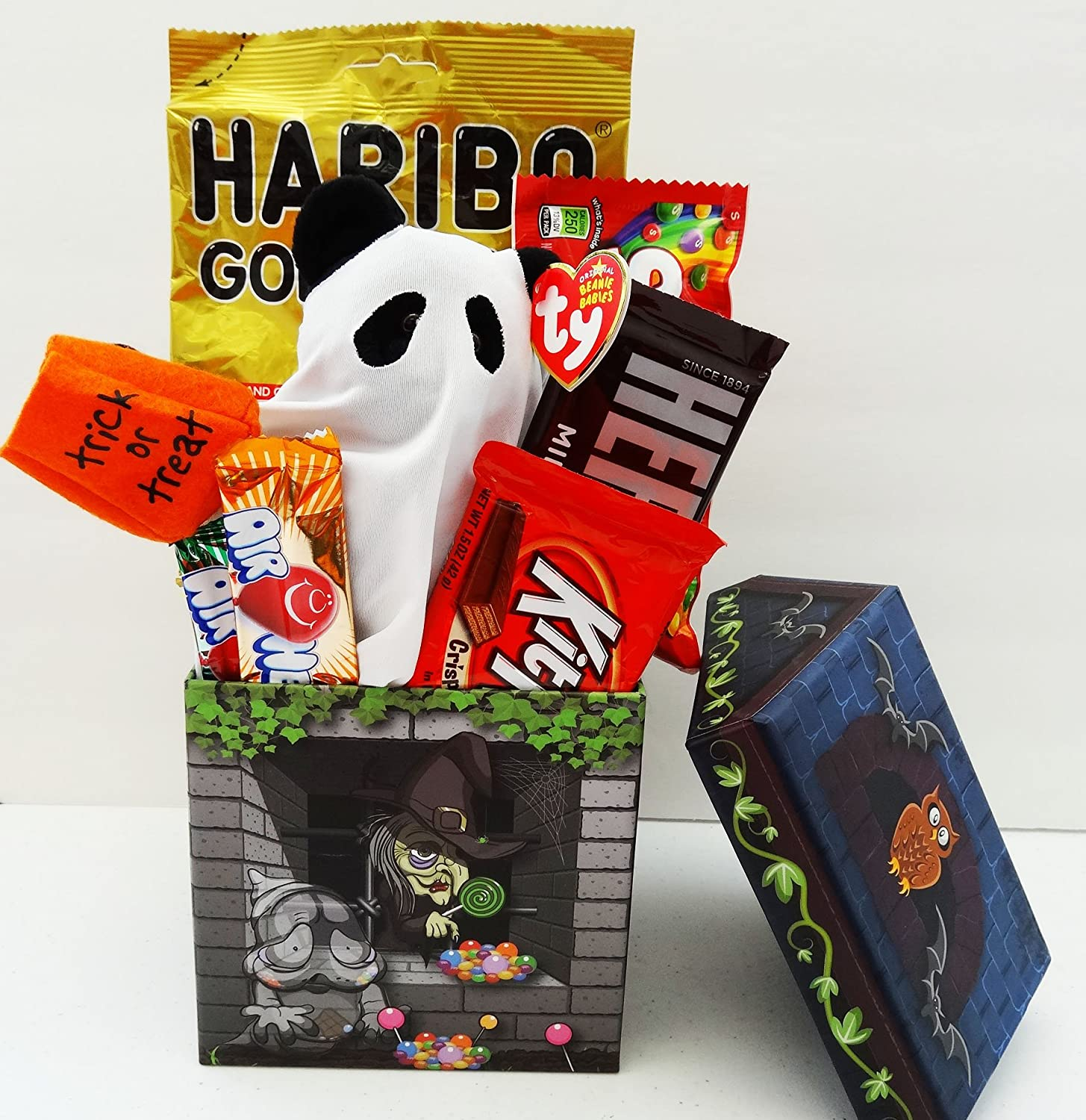 Unlocking Greatness You Are LOVED Halloween Gift Baskets: Ty Beanie Baby Halloween Plush Toy and Candy