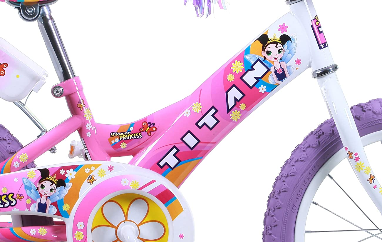Titan Girl's Flower Princess BMX Bike, Pink, 16-Inch 5