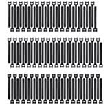 Pasow 100pcs 6-Inch Reusable Fastening Cable Ties Adjustable Wire Management - Black (Color: Black, Tamaño: 6 Inch)