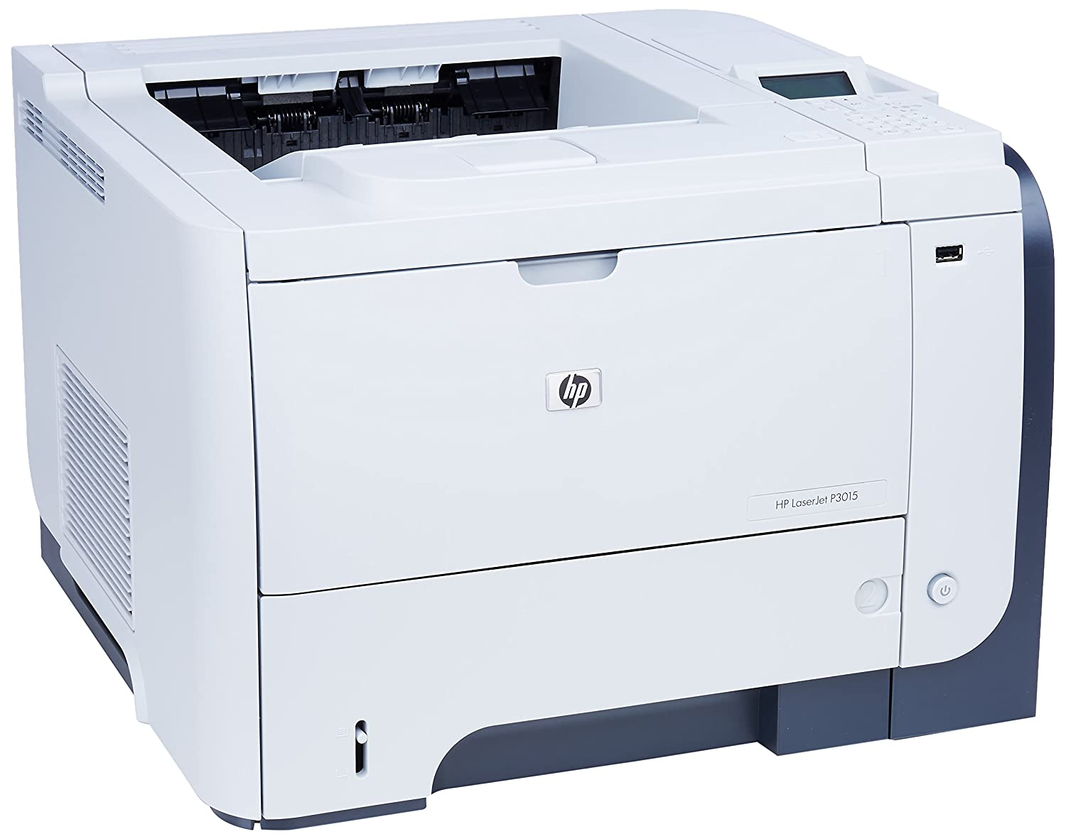 hp laserjet p3015dn printer black silver ebay. Black Bedroom Furniture Sets. Home Design Ideas