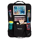 Backseat Car Organizer & Kick Mat: Back of Seat Storage & Organization for Kids (Color: Black)