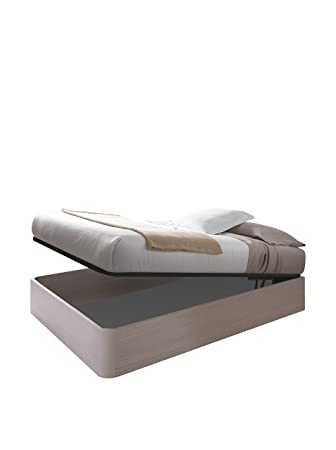 Habitdesign 006077MO - Canapé + somier, cama elevable, color alpes, válido para colchones de 135x191 cm