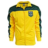 Brazil Jacket Brasil Adult Track Soccer Adult Sizes Soccer Football (Yellow, L)
