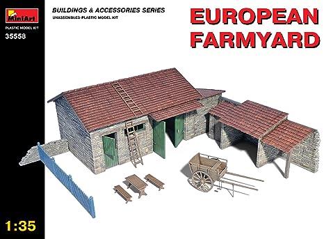"""MINIART Echelle 1: 35""""européenne Ferme Kit de modèle en plastique"""