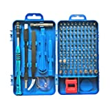 Precision Screwdriver Set, Apsung 110 in 1 Professional Screwdriver set, Multi-function Magnetic Repair Computer Tool Kit Compatible with iPhone/Ipad/Android/Laptop/PC etc(Blue) (Color: Blue)