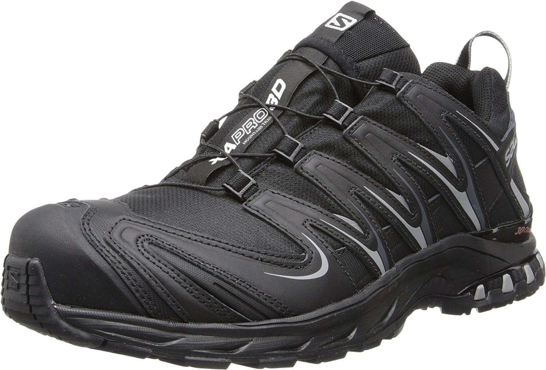 Salomon Men's XA Pro 3D CS WP Trail Running Shoe,Black/Black/Pewter,8.5 M US