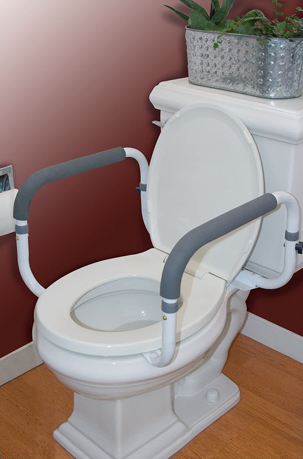 Carex Health Brands Toilet Support Rail New Free
