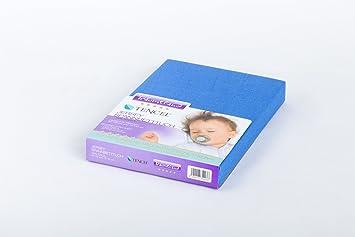 Träumeland Spannbetttuch für Laufgitter Jersey hellblau 100x100 2er Pack TOP