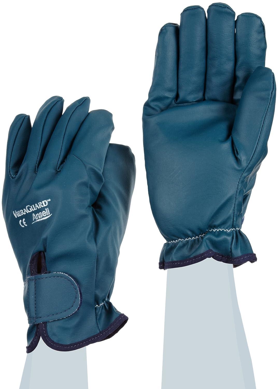 Ansell Vibraguard 7-112 nitrile Anti Vibration Glove, Cut Resistant, Full Finger Coated on Interlock Knit Liner, (Pack of 1 Pair)