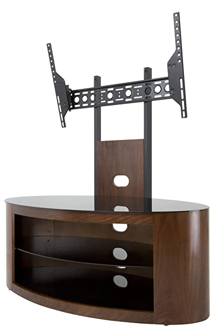 AVF FSL1000BUCW-A Buckingham Combination TV Stand and Optional TV Mount - 1000 - Walnut Color