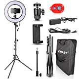 Emart 14 inch Bi-Color LED Ring Light Photography with Stand - Ultra Thin Innovation, 40W Dimmable & Color Temperature Adjustable Circle Makeup Lighting Kit for Shooting YouTube Video (Tamaño: standard)