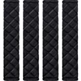 Tatuo 4 Pack Car Seat Belt Pads Seatbelt Protector Soft Comfort Seat Belt Shoulder Strap Covers Harness Pads Helps Protect Your Neck and Shoulder (Bla