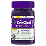 PURE Zzzs Melatonin Natural Flavor Sleep Aid Gummies with Chamomile & Lavender by Vicks ZzzQuil, 1mg per gummy, 60 ct (Color: Wildberry Vanilla, Tamaño: Adult)