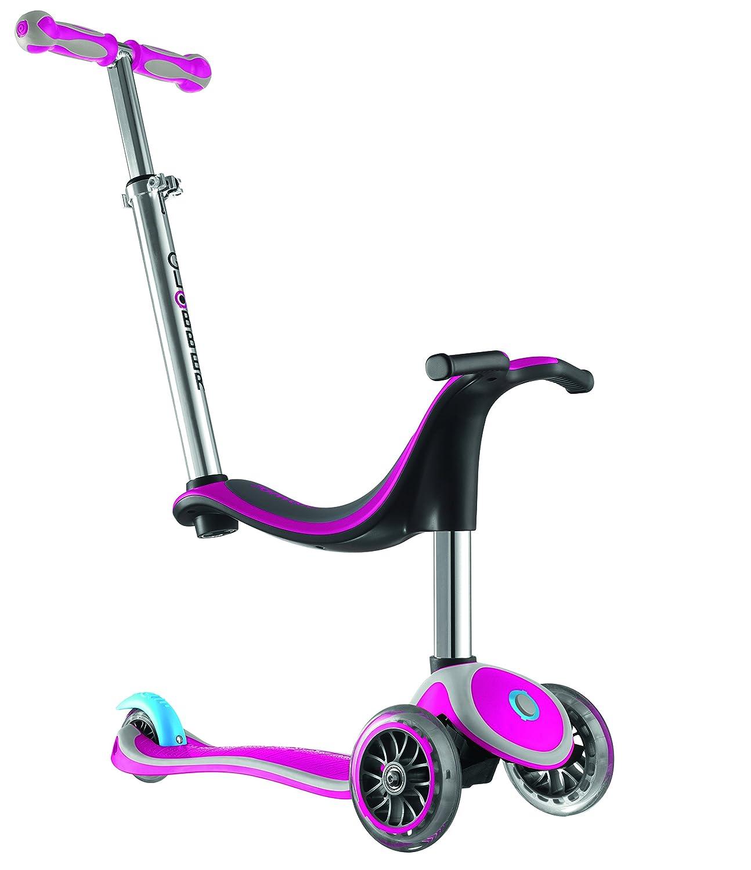 Globber Free 4 in 1, monopattino-triciclo a tre ruote con sedile per bambini