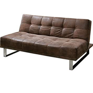 Chrome Delvin Faux Leather Sofa Model-23145