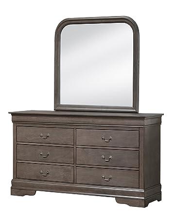 Glory Furniture G3105-D Bedroom Dresser, Grey