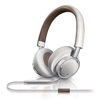 Philips Fidelio Casque Audio M1WT/00 Blanc avec fonction prise d'appel et micro pour téléphone mobile