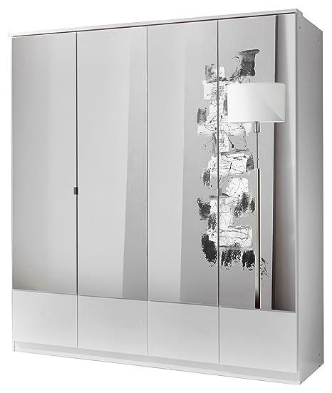 Wimex 047207 Drehturenkleiderschrank 200 x 180 x 58 cm, alpinweiß